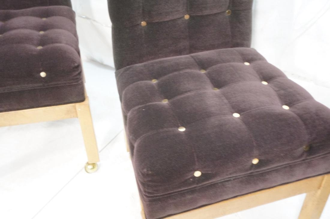 Set 4 Probber Style Dining Chairs. Brown velvet - 4