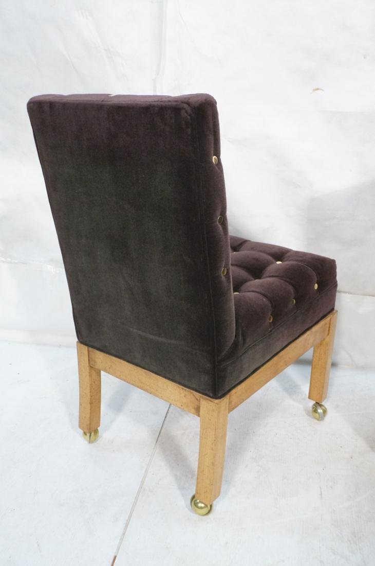 Set 4 Probber Style Dining Chairs. Brown velvet - 8