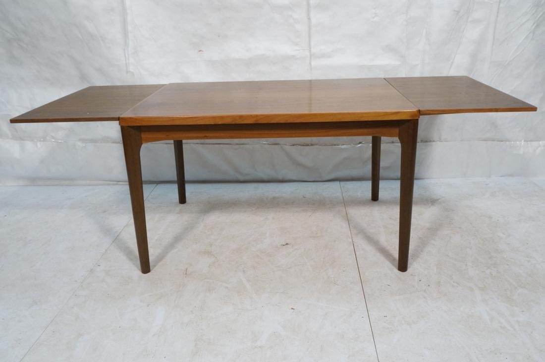 Danish Teak Refractory Table STOLE. Legs set at 4 - 2