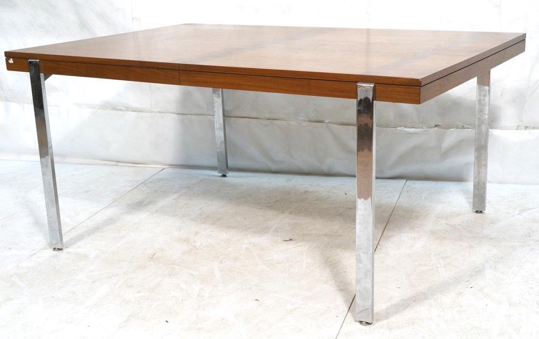 American Modern Rosewood Trim Dining Table Wide C