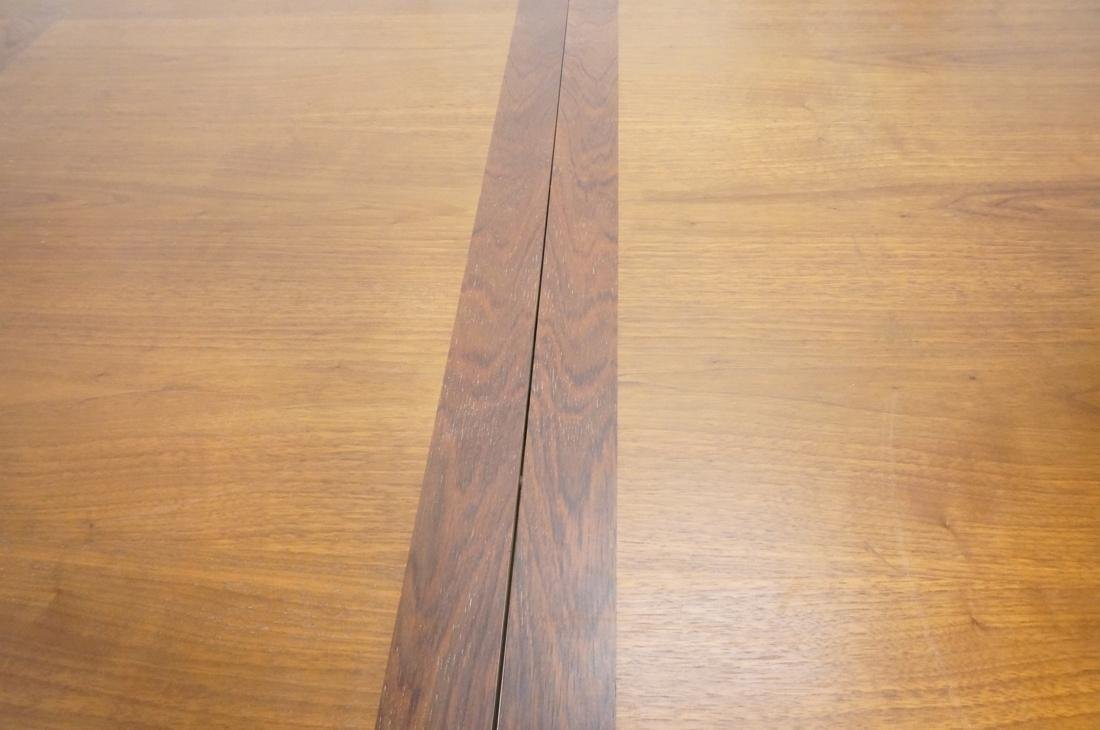 American Modern Rosewood Trim Dining Table Wide C - 8