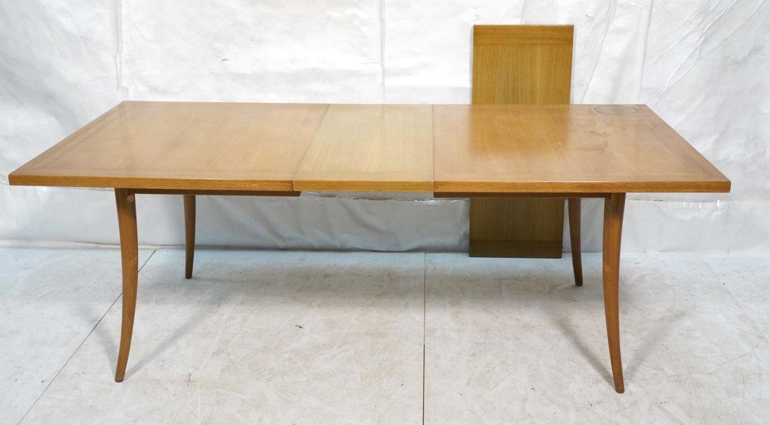 HARVEY PROBBER Banded Dining Table. Blond Maho