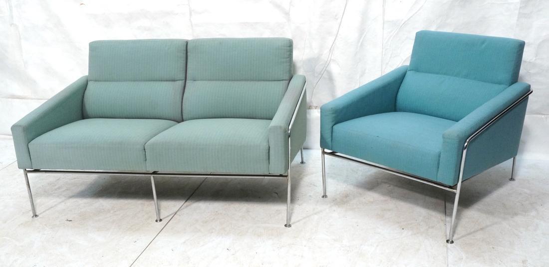 FRITZ HANSEN by ARNE JACOBSEN 2pc Sofa Lounge Cha