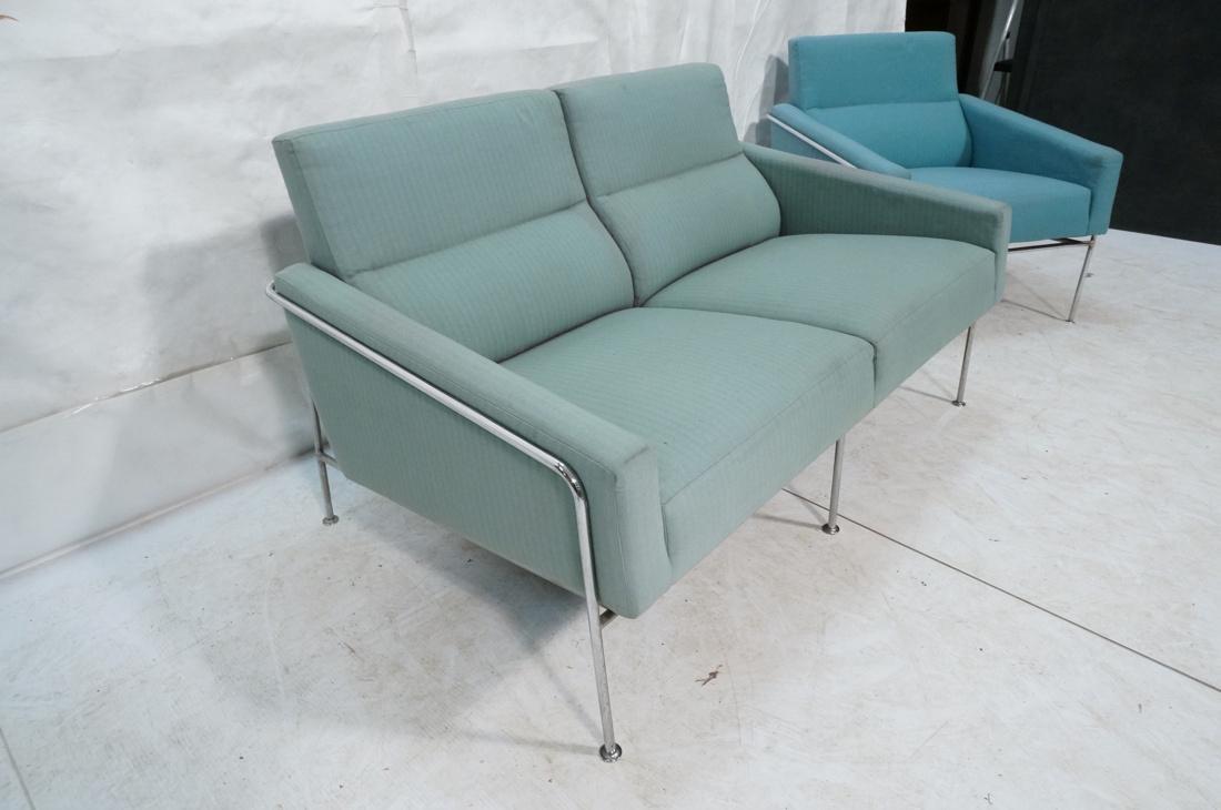 FRITZ HANSEN by ARNE JACOBSEN 2pc Sofa Lounge Cha - 8