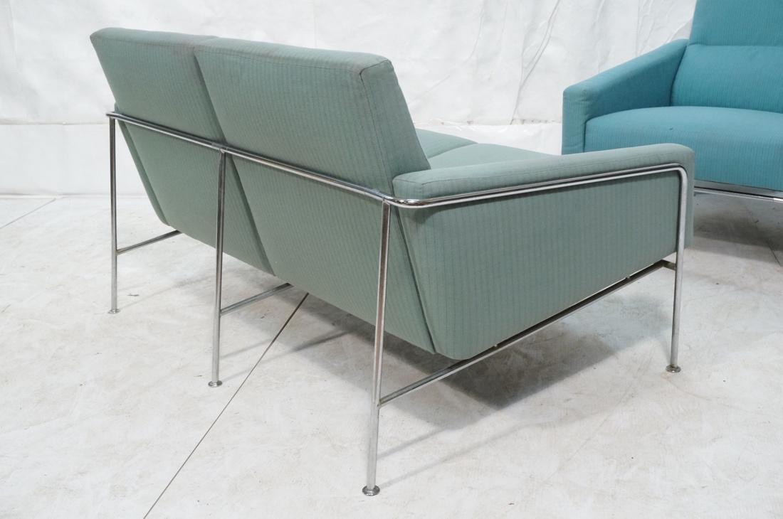 FRITZ HANSEN by ARNE JACOBSEN 2pc Sofa Lounge Cha - 9