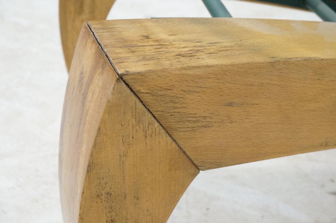 Modernist Sculpted Coffee Table. Wood and iron ba - 5