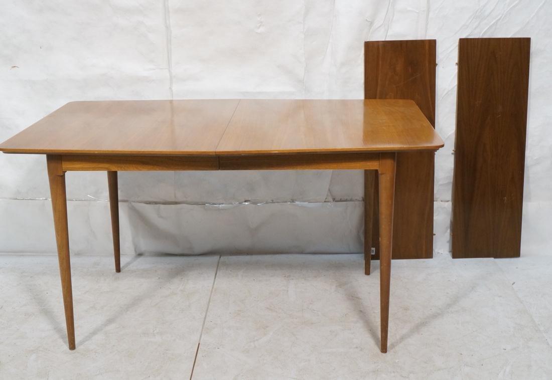 Danish Modern Dining Table Tapered Peg Legs Bowed