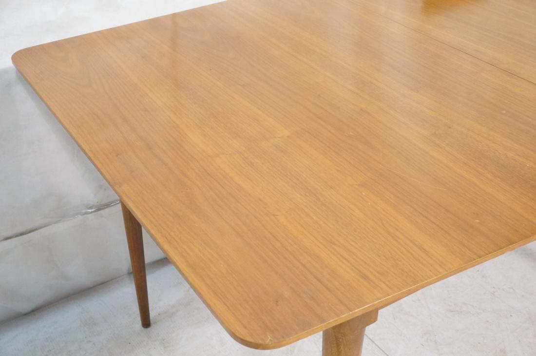 Danish Modern Dining Table Tapered Peg Legs Bowed - 2