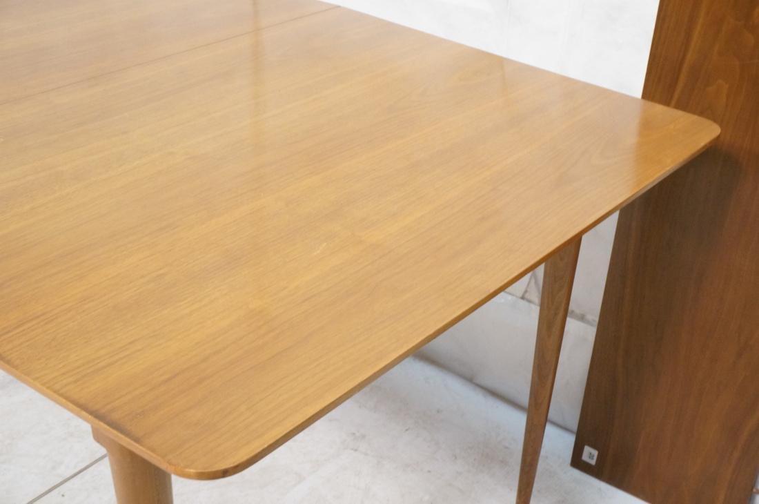 Danish Modern Dining Table Tapered Peg Legs Bowed - 4