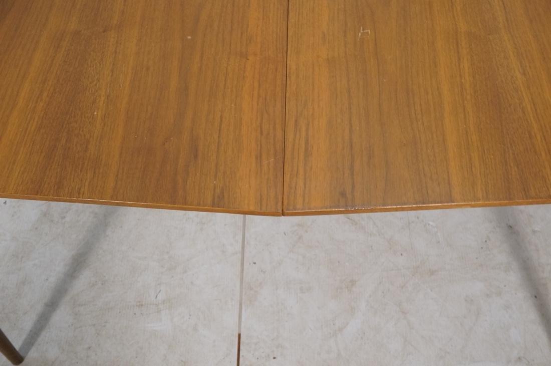 Danish Modern Dining Table Tapered Peg Legs Bowed - 9