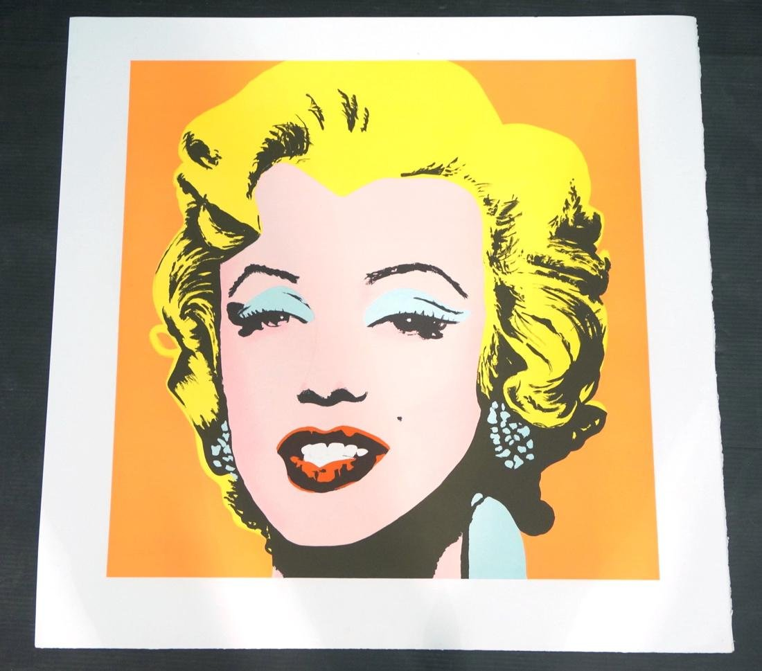 ANDY WARHOL MARILYN MONROE Lithograph Print. Andy