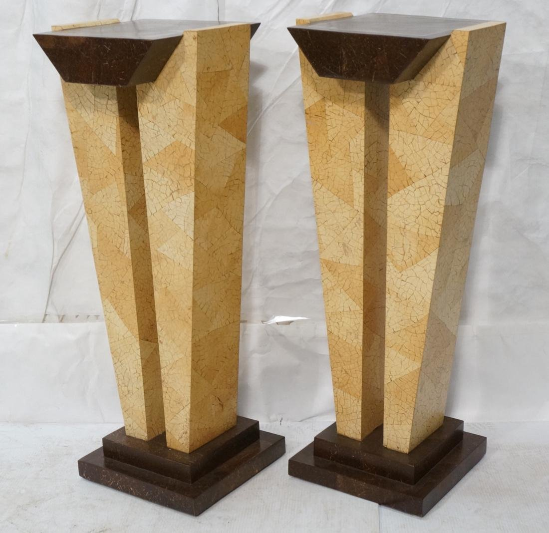 Pr Decorator Coconut Shell Pedestals. Two support