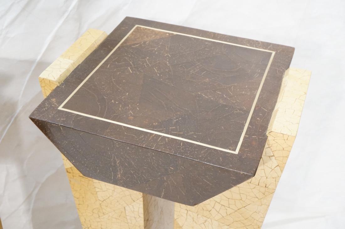 Pr Decorator Coconut Shell Pedestals. Two support - 3