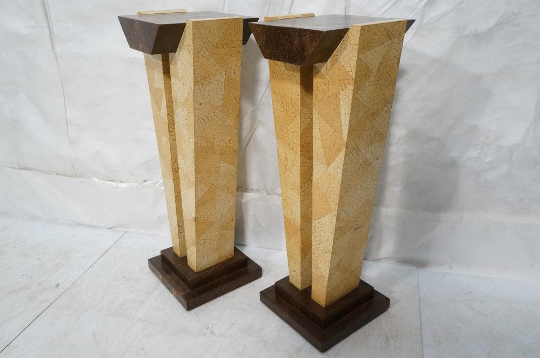 Pr Decorator Coconut Shell Pedestals. Two support - 8