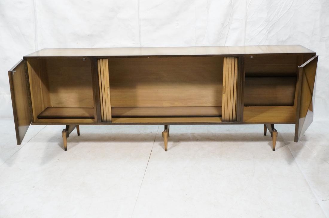 Italian Style Blond Wood Tambour Door Credenza Si - 2