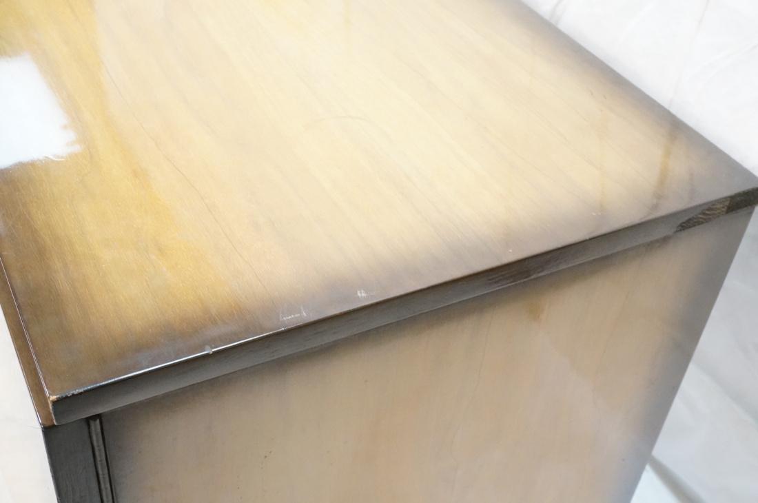 Italian Style Blond Wood Tambour Door Credenza Si - 3