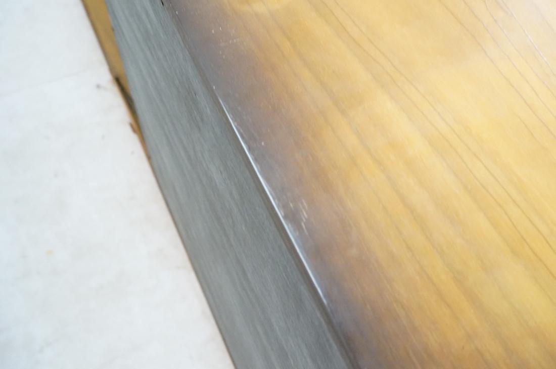 Italian Style Blond Wood Tambour Door Credenza Si - 7