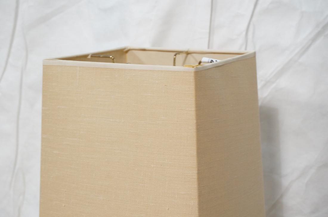 AMERICAN MODERN Walnut Floor Lamp. Fabric shade, - 2