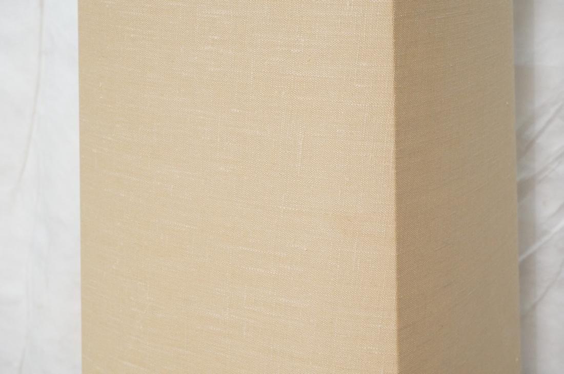 AMERICAN MODERN Walnut Floor Lamp. Fabric shade, - 3