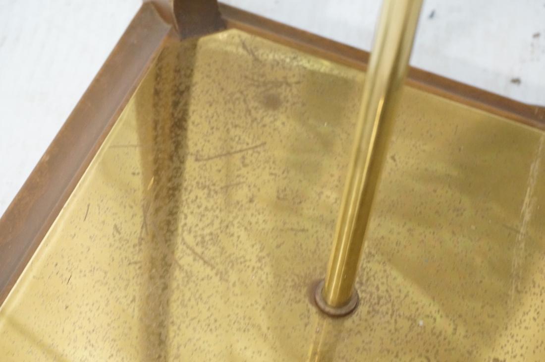 AMERICAN MODERN Walnut Floor Lamp. Fabric shade, - 6