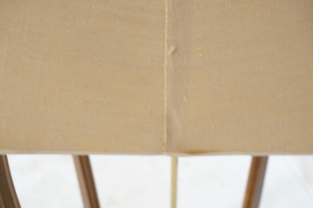AMERICAN MODERN Walnut Floor Lamp. Fabric shade, - 8