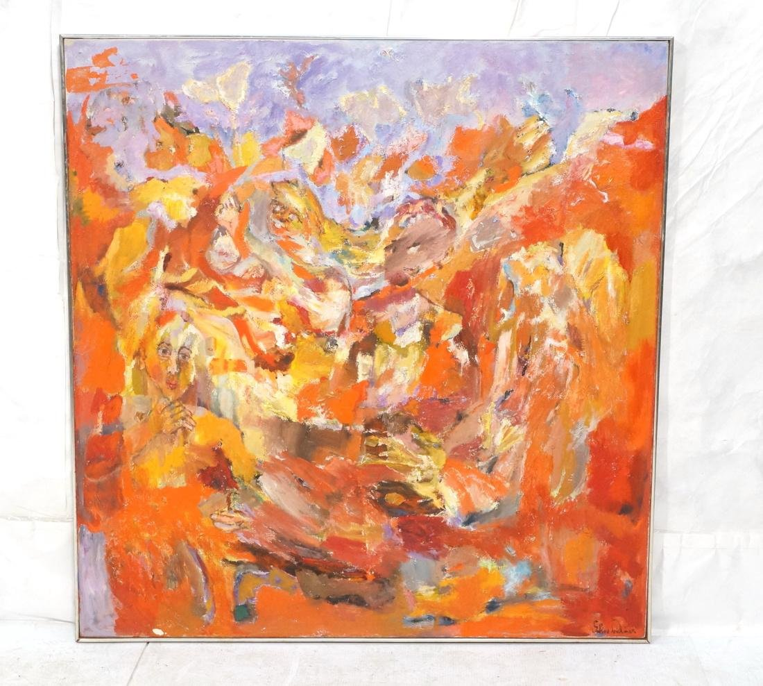 SABINA TEICHMAN INFERNO 1969 Large Abstract Figur