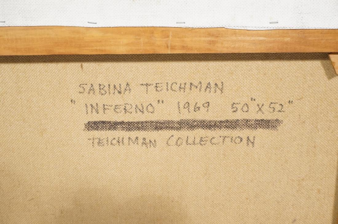 SABINA TEICHMAN INFERNO 1969 Large Abstract Figur - 6
