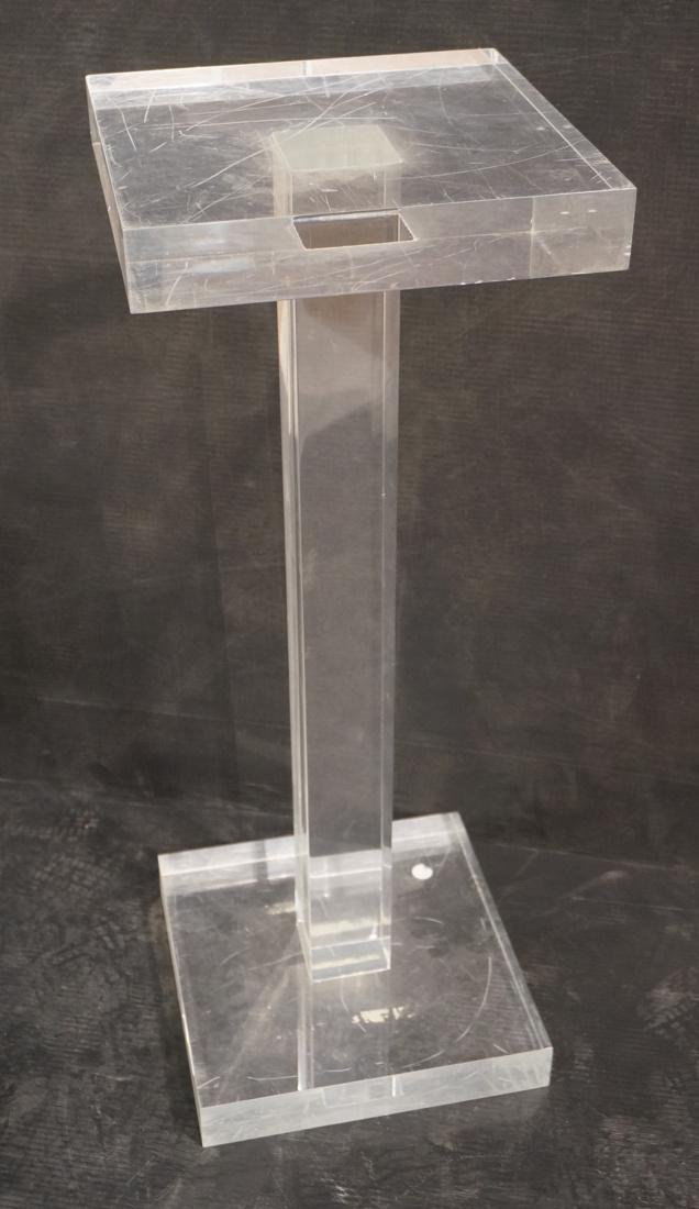 Thick Clear Lucite Display Pedestal Stand. Thick