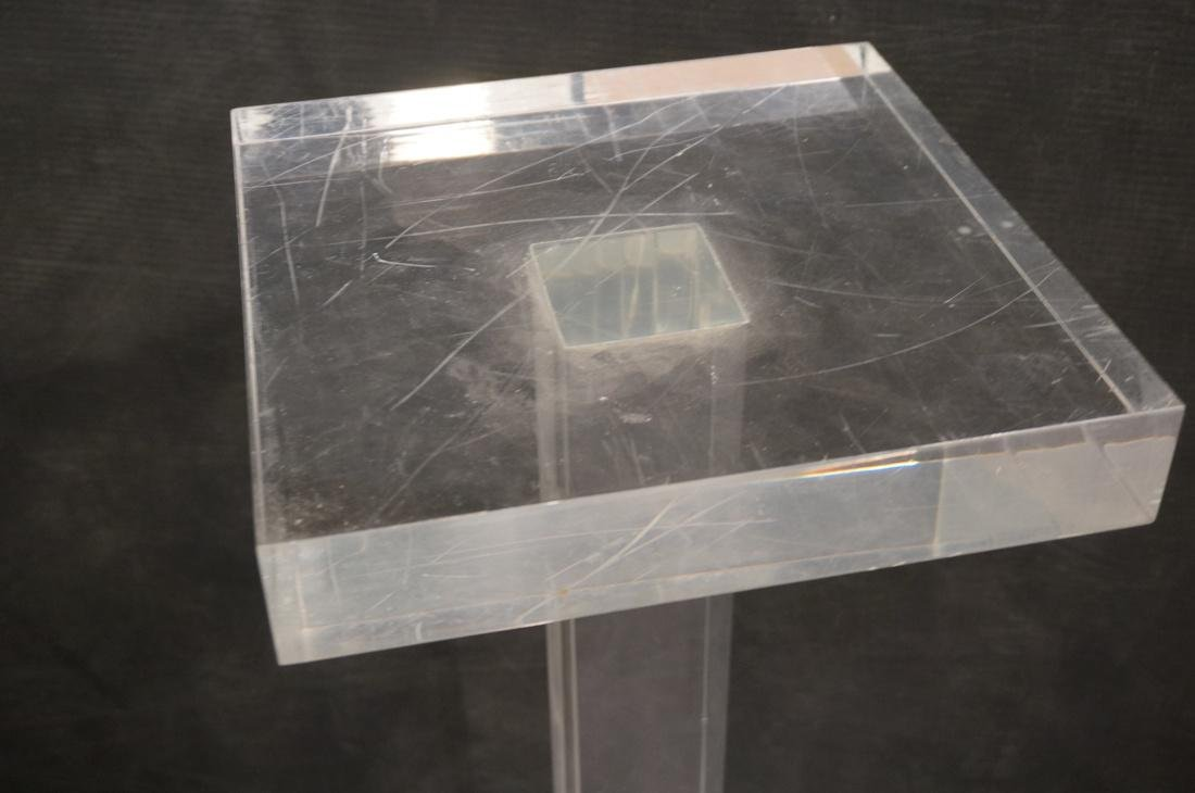 Thick Clear Lucite Display Pedestal Stand. Thick - 2