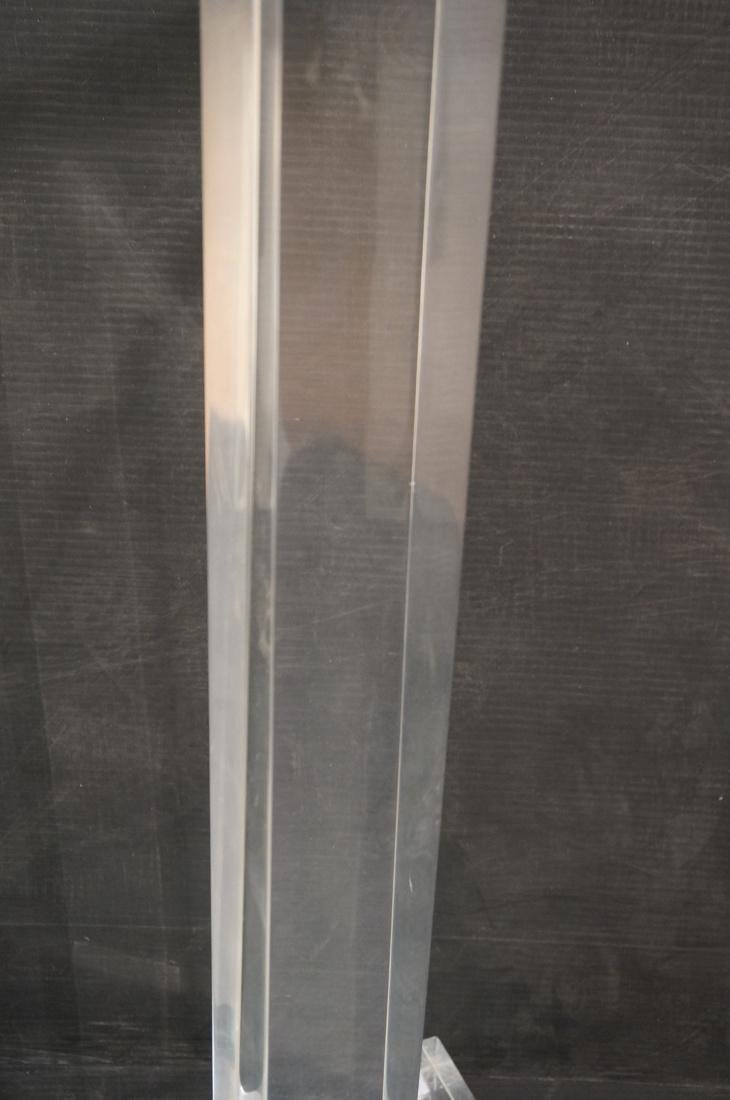 Thick Clear Lucite Display Pedestal Stand. Thick - 3