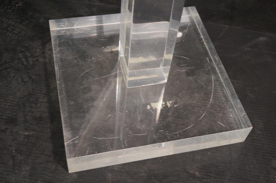 Thick Clear Lucite Display Pedestal Stand. Thick - 4