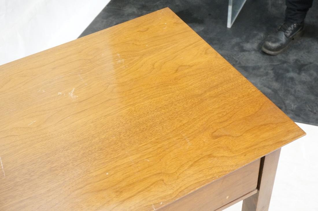 American Modern Walnut Desk. Elliptical metal pul - 4