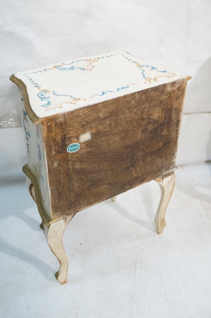 Pr French Style Painted 2 door Night Stands Table - 9