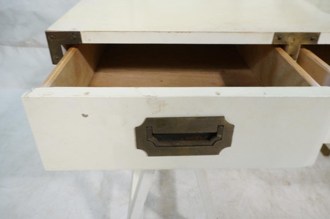 "White painted campaign desk & Chair. Two ""A"" fram - 3"