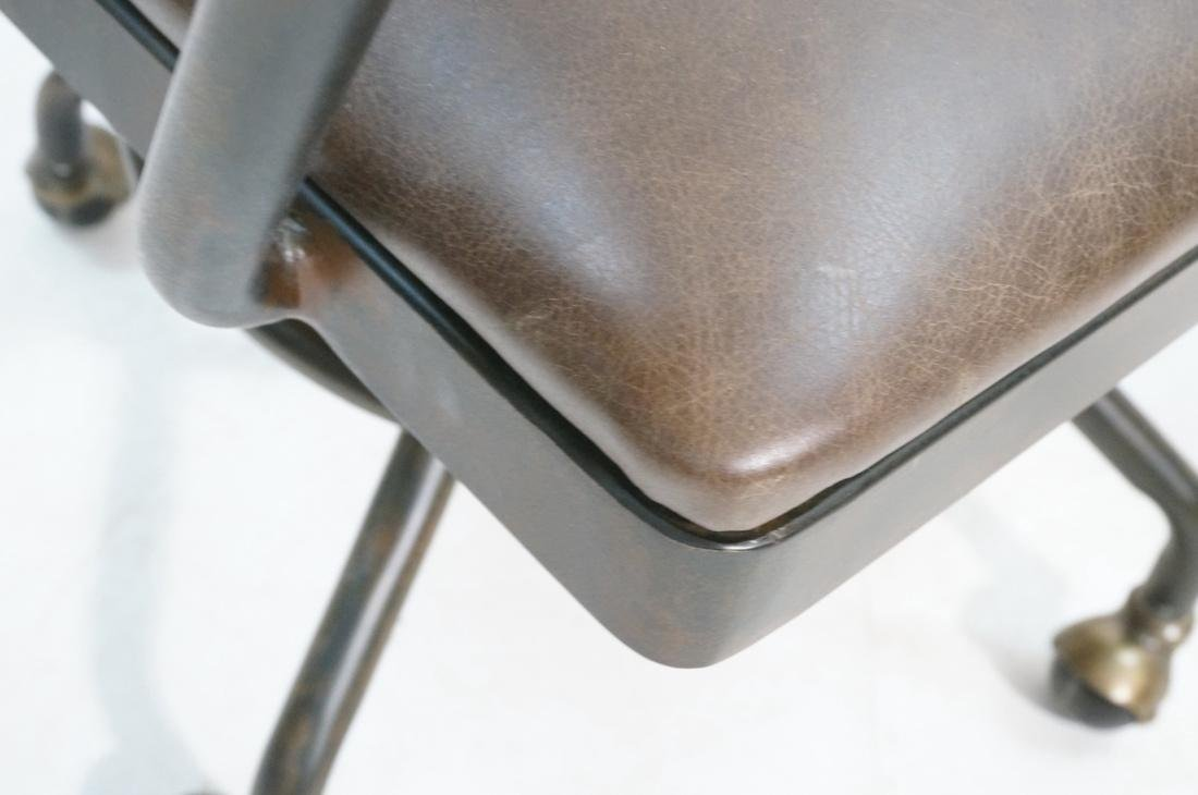 Industrial Style Office Chair. Antiqued metal fin - 6