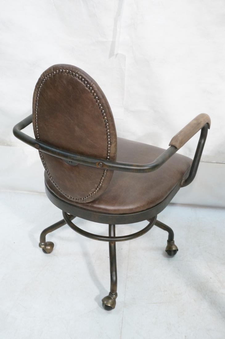 Industrial Style Office Chair. Antiqued metal fin - 8