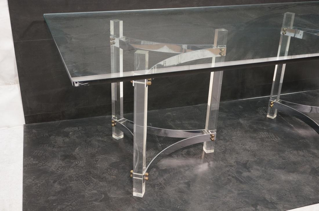 Large Glass & Lucite Dining Table. 3/4 inch thick - 2