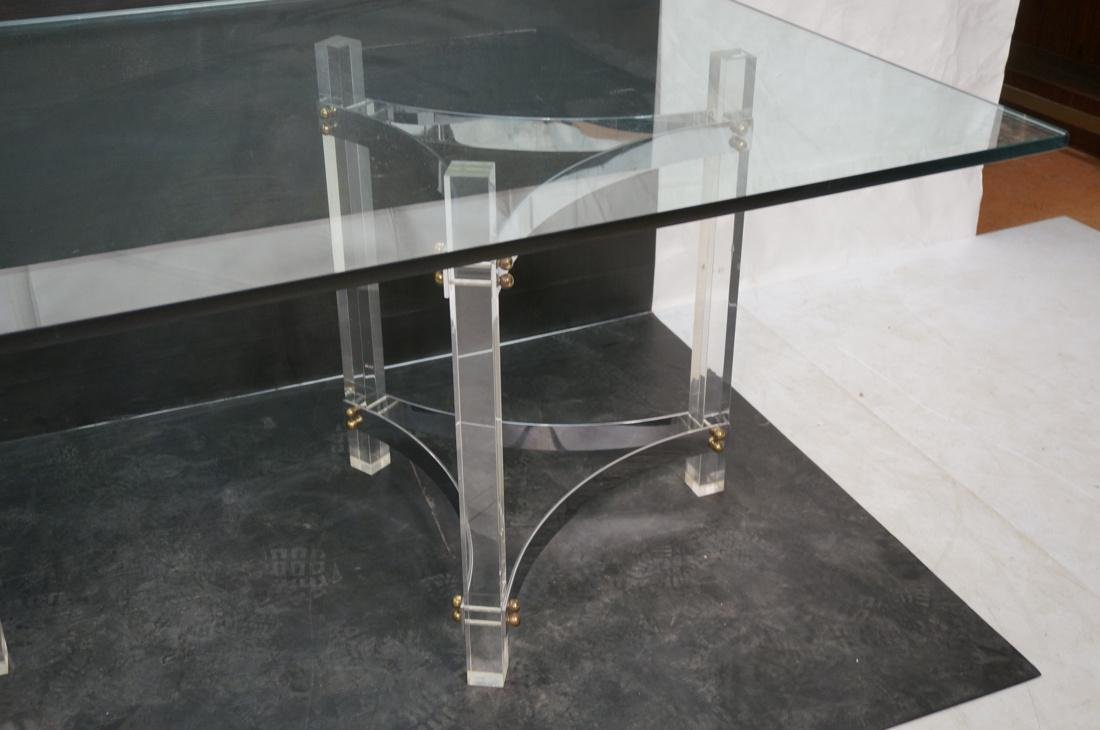 Large Glass & Lucite Dining Table. 3/4 inch thick - 3