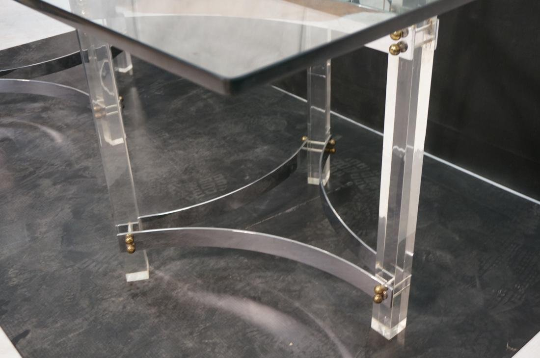Large Glass & Lucite Dining Table. 3/4 inch thick - 6