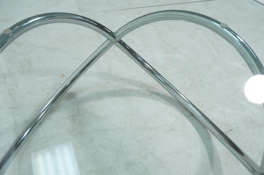 Modernist Chrome and Glass Cocktail Coffee Table. - 7