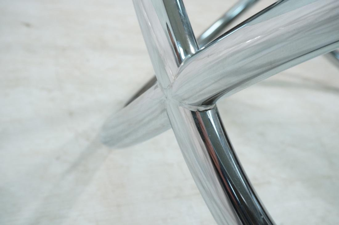 Modernist Chrome and Glass Cocktail Coffee Table. - 8
