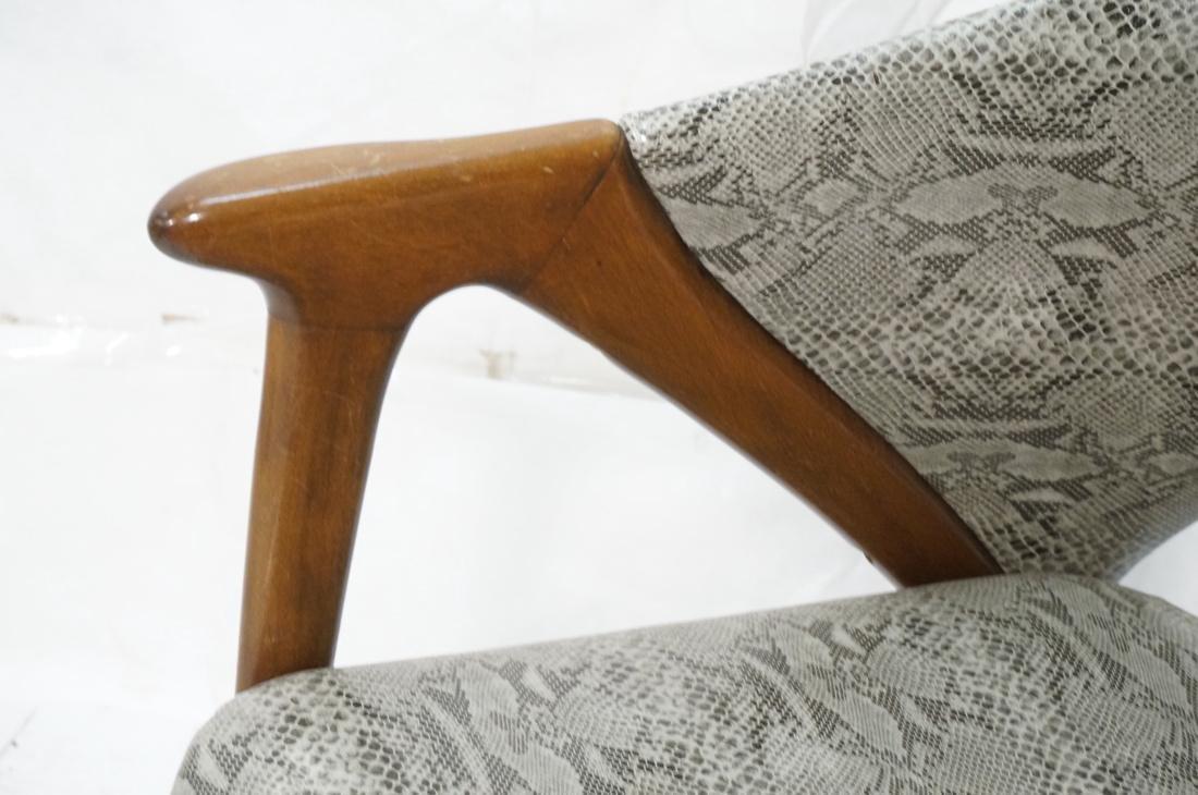 Modern Barrel Back Side Chair Wood Frame Saber Le - 3