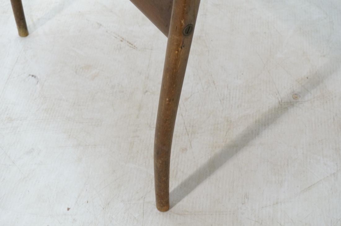 Modern Barrel Back Side Chair Wood Frame Saber Le - 5