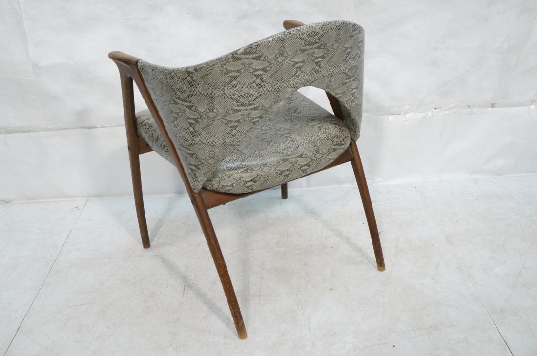 Modern Barrel Back Side Chair Wood Frame Saber Le - 7