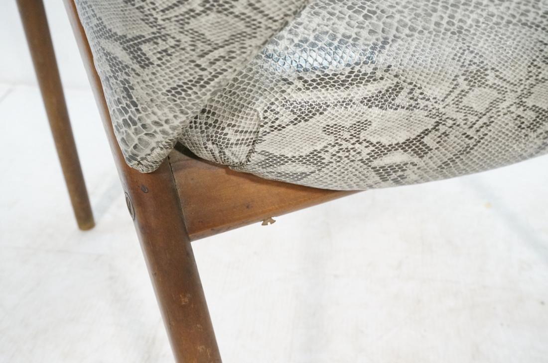 Modern Barrel Back Side Chair Wood Frame Saber Le - 8
