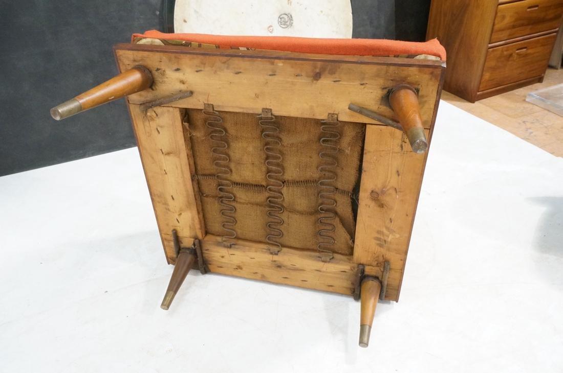 Modernist Wood Framed Lounge Chair Woven Panel Ar - 10