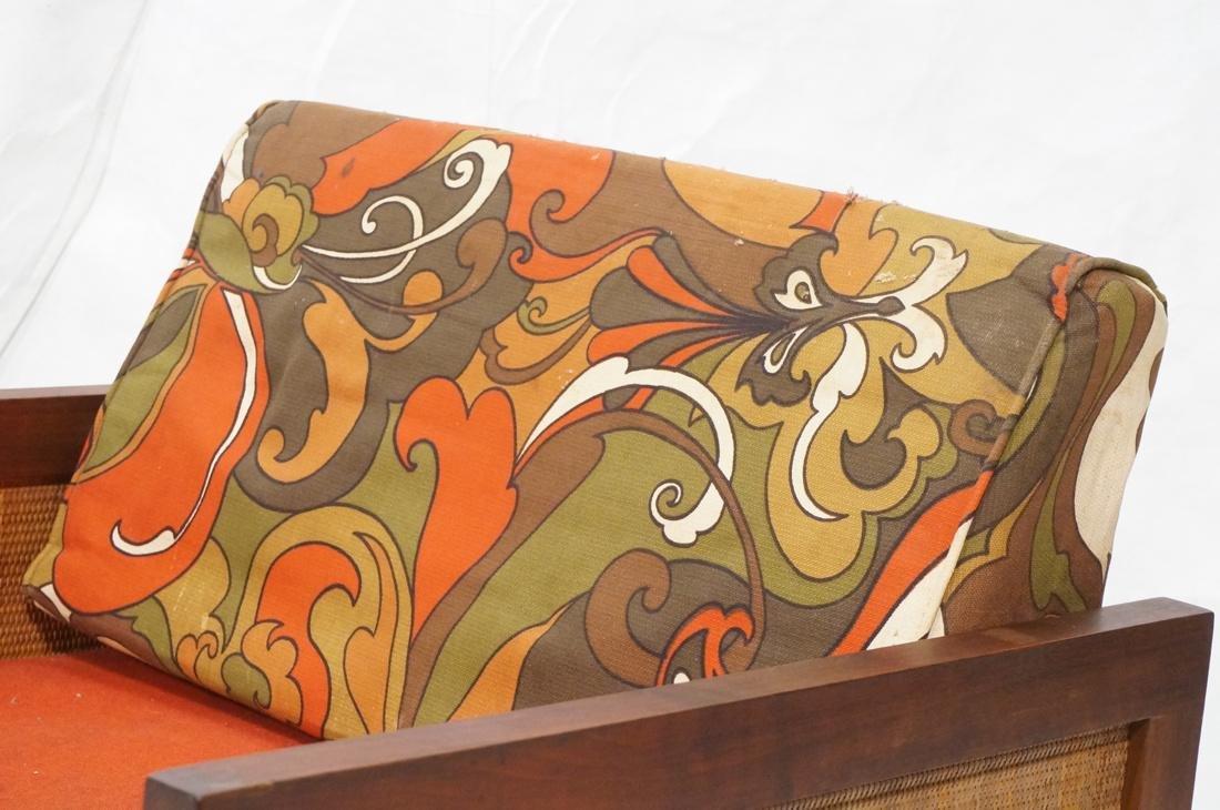 Modernist Wood Framed Lounge Chair Woven Panel Ar - 2