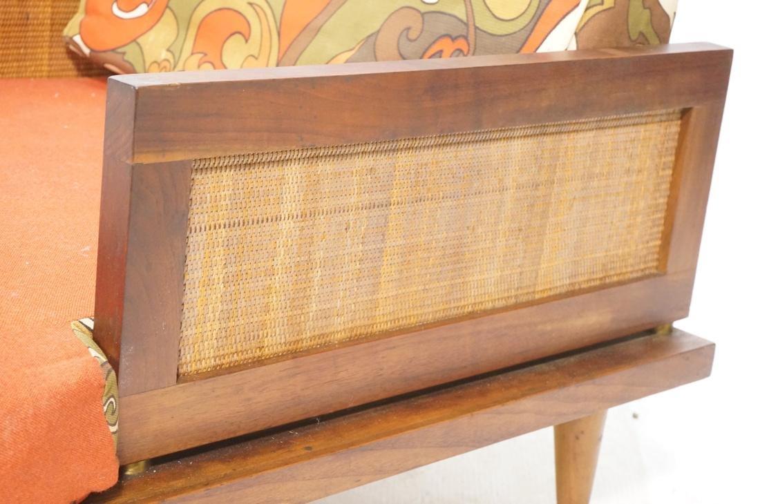 Modernist Wood Framed Lounge Chair Woven Panel Ar - 4
