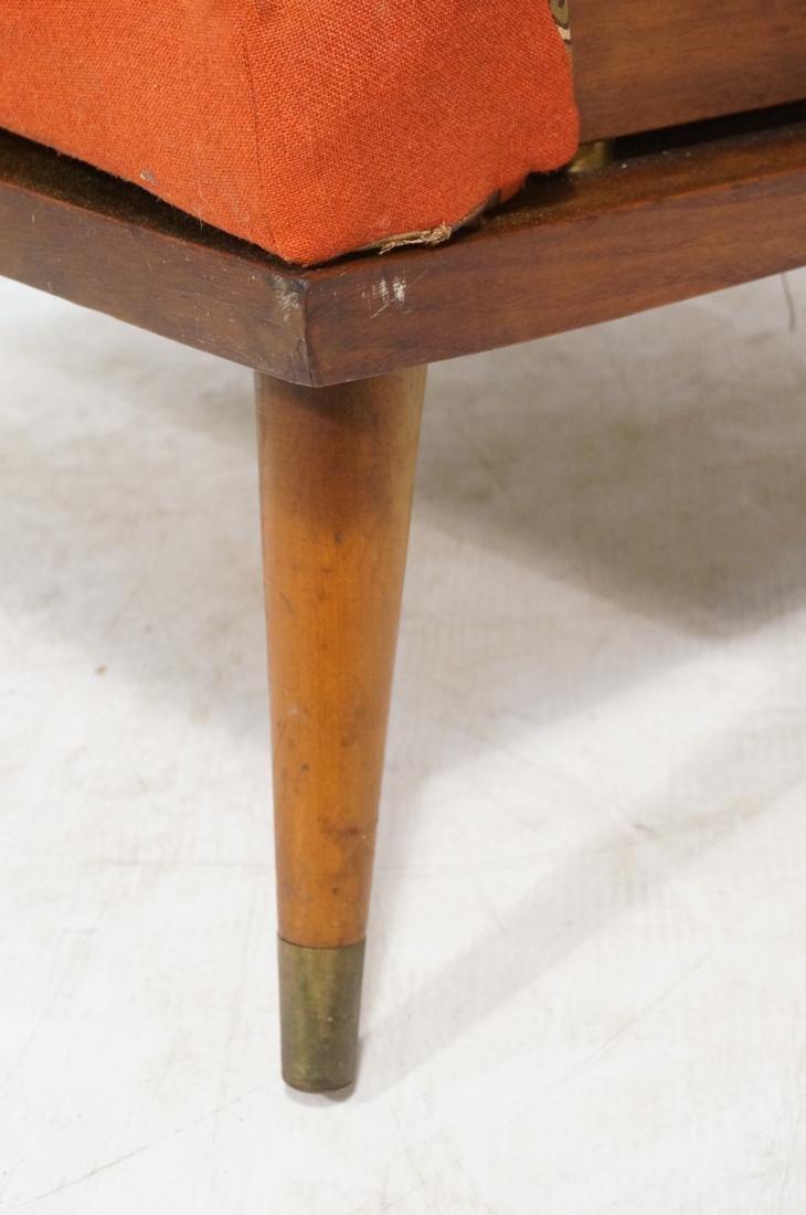 Modernist Wood Framed Lounge Chair Woven Panel Ar - 5