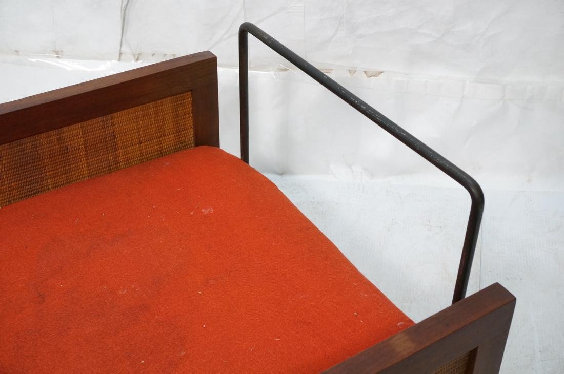 Modernist Wood Framed Lounge Chair Woven Panel Ar - 6